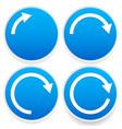 circular arrows 14 12 34 and full circles - blue vector image