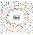 Colorful Confetti on Transparent background vector image vector image