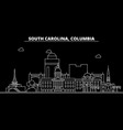 columbia silhouette skyline usa - columbia vector image