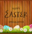 congratulation with a happy easter on a background vector image vector image