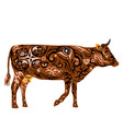 cow color of coffee vector image vector image