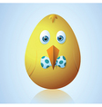 Cute Easter egg vector image vector image