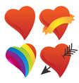 cute sweetheart cupid heart valentine heart rai vector image vector image