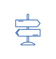 direction of travel line icon concept direction vector image