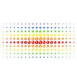earth spectrum halftone matrix vector image