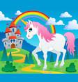fairy tale unicorn theme image 2 vector image vector image