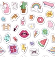 Fashion badges seamless pattern vector image