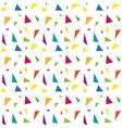 Festive confetti seamless pattern Modern vector image vector image