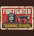 firefighters training school banner vector image vector image