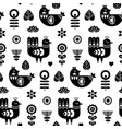 folk art seamless pattern with birds and vector image vector image