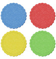four round lables in four colors vector image