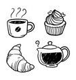 graphic coffee and bakery vector image vector image