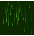green matrix effect with binary code abstract vector image vector image