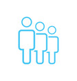group of three people or group of users friends vector image vector image