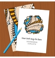 hand draw ethnic background vector image vector image