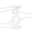 hand set A vector image vector image