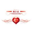 Happy Valentines day border ruby gem treasure vector image vector image