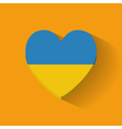 heart-shaped icon with flag ukraine vector image vector image