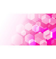 hexagon box on pink gradient abstract background vector image vector image