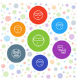 humor icons vector image vector image