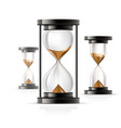 icon hourglass - glass sandglass rounded and vector image vector image