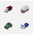 isometric transport set of freight lorry first vector image vector image