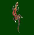 llizard aboriginal art style vector image