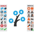 Medical Technology Tree Icon vector image vector image