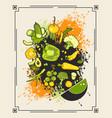 menu set of vegetables vector image vector image