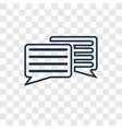 message balloon concept linear icon isolated on vector image