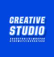 modern logo creative studio trendy font vector image vector image