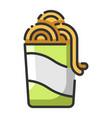 noodle vector image