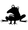 odd frog stencil vector image vector image