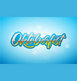 oktoberfest banner with fresh lager vector image vector image