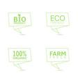 organic food green label set vector image vector image