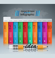 pencil idea - business education infographic vector image vector image
