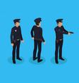 police worker policeman set vector image
