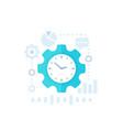productivity productive capacity icon vector image vector image