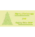 retro merry christmas and happy new year card vector image vector image