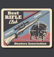 retro poster for hunters association vector image
