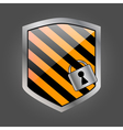 Security shield with lock 3 vector image vector image