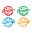 set of discontinued faded stamps vector image vector image