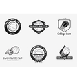 Set of vintage basketball championship logos and vector image vector image