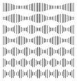 set sound wave soundwave line waveform vector image