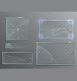 set transparent glass vector image vector image