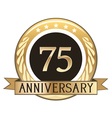 Seventy Five Year Anniversary Badge vector image