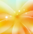 Smooth fresh flower shiny background vector image