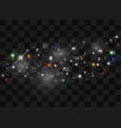 sparks glitter special light effect sparkles on vector image