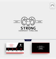 strong horn goat logo template and business card vector image vector image
