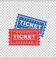 ticket icon on isolated background vector image